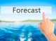 58657348 - forecast  - hand pressing a button on blurred background concept . business, technology, internet concept. stock photo