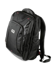 10423816 - new closed black backpack isolated on white